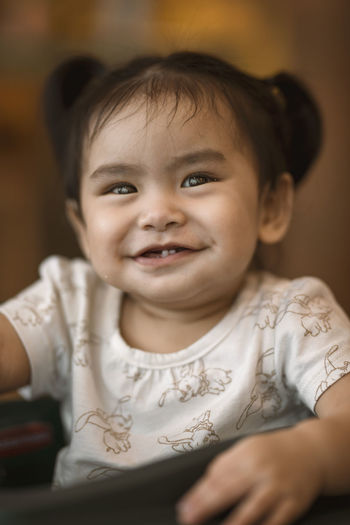 Baby Girl! Eyeem Philippines The Week on EyeEm Baby Child Childhood Cute Focus On Foreground Front View Indoors  Innocence Looking At Camera One Person Portrait Real People