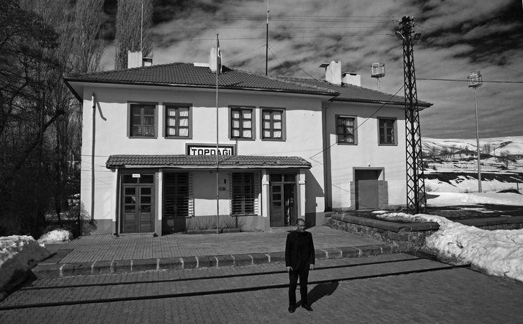 Kars Istasyon Railway Station Tcdd Train Black And White Black White Dogu Ekspresi Railway Journey