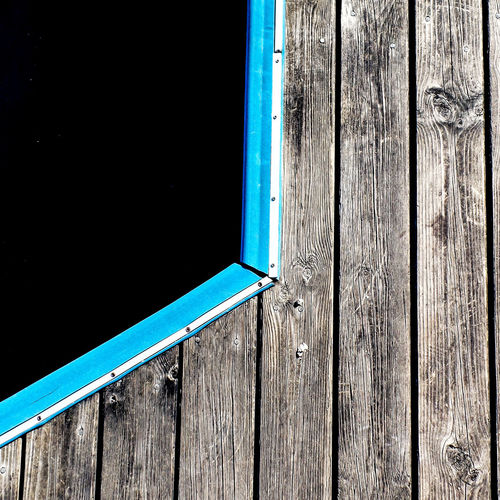 Wood - Material No People Day Blue Architecture Outdoors Nature Built Structure Plank Water Wood Pier Sunlight Door Security Protection Copy Space Sky Entrance