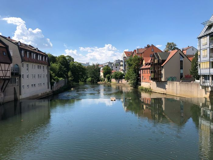 Nürnberg, St. Johannis Pegnitz Nürnberg Nuremberg Building Exterior Water Built Structure Architecture Building Sky Residential District Nature No People Cloud - Sky Reflection Day Waterfront City Outdoors House River Tree Plant