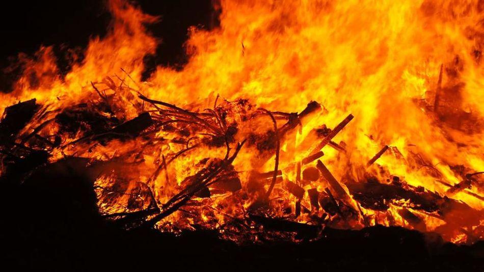 Flame Burning Orange Color Nature Bonfire Fire Burg Satzvey Hexenfeuer