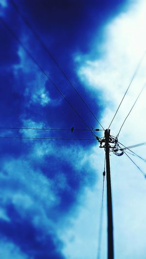 Blue Sky Blue Weather Bluesky Blue Sky And Clouds Electricity Wires Electric Wires