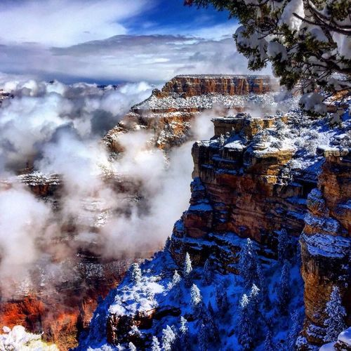 My Favorite Place by far my favorite place on earth! Arizona Grand Canyon Travel Geology Landscape Beauty In Nature Travel Destinations Majestic Amazing Gorgeous Loveit Hikers CantWaitToGoBack