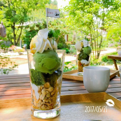 Cafe Parfait Greentea 抹茶パフェ Temple 寺 Japanese Culture Japanese Food Sweets