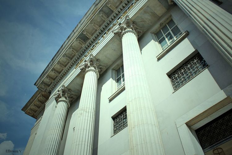 700D Awesome Architecture Canon Classic Architecture Clouds And Sky Columns Details Marble National Bank Photography Sky Streetphotography