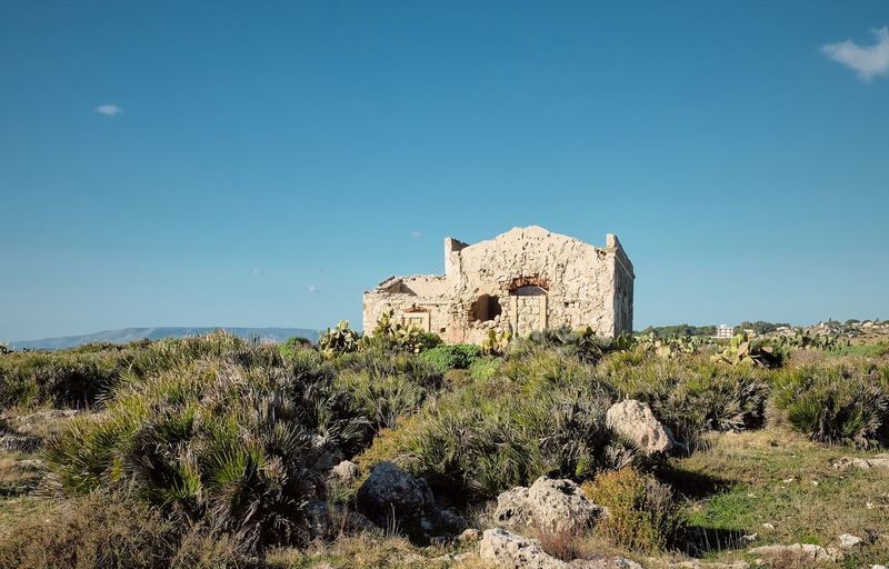 Abandoned Ancient Ancient Civilization Architecture Building Exterior Built Structure Clear Sky Day Grass History Landscape Nature No People Old Ruin Outdoors Tree