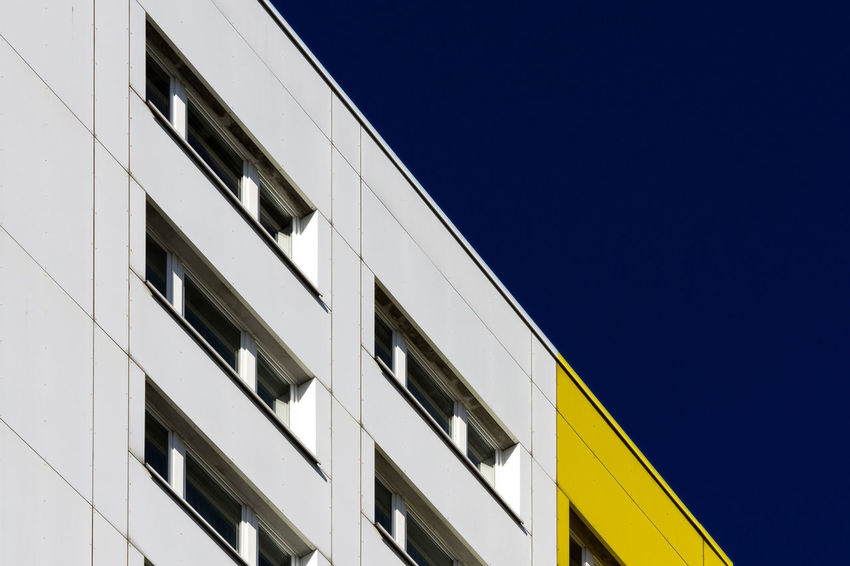 Berlin Architecture Architecture Blue Building Building Exterior Built Structure City Clear Sky Day Low Angle View Modern No People Outdoors Window