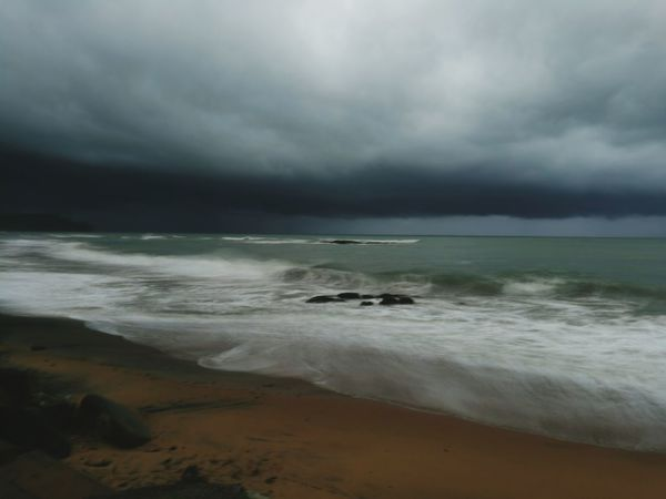 Black curtain. Storm Cloud - Sky Beach Dramatic Sky Storm Cloud Sea Weather Atmospheric Mood Landscape Sand Sky Nature Beauty In Nature Thunderstorm Environment No People Wave Scenics Water Horizon Over Water First Eyeem Photo