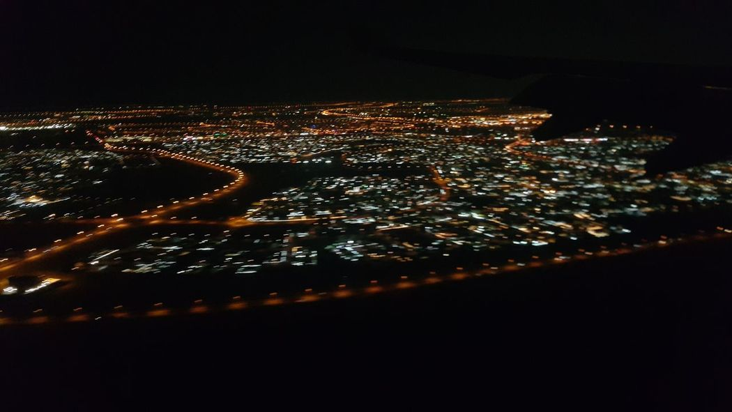 Almost there.. The Purist (no Edit, No Filter) Night Photography Night Lights View From Above From An Airplane Window Night Flight Hello World Homebound Showing Imperfection