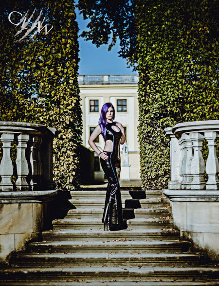Shot in chassel on one of the last summery days this year. Outdoors Portrait Steps People Beauty Latex Couture Altmodel Gothgirl Alternativegirl Latex Dress  Latex Latexfashion Photography Shiny Couture Lifestyle Chassel