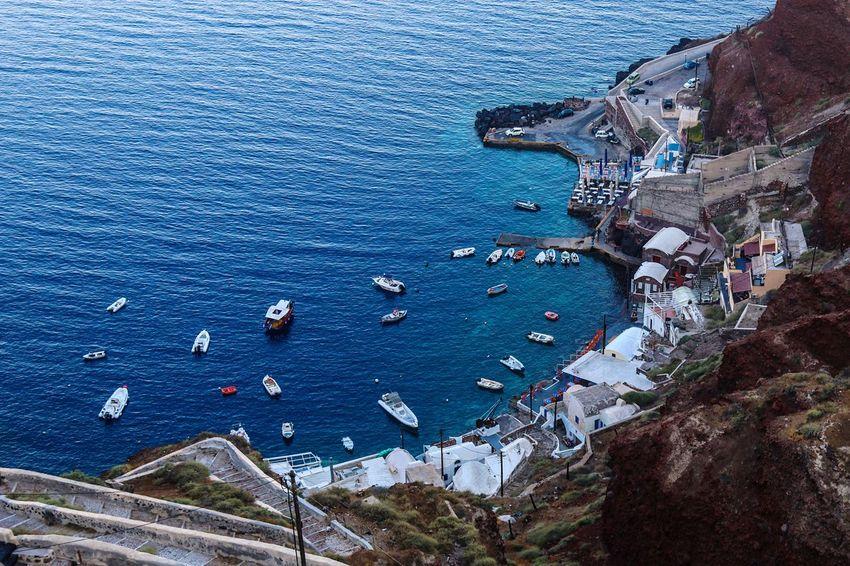 Greece Santorini Oia Port Boats Birdseyeview Sea Canon Canon 70d Photojournalism Canonphotography