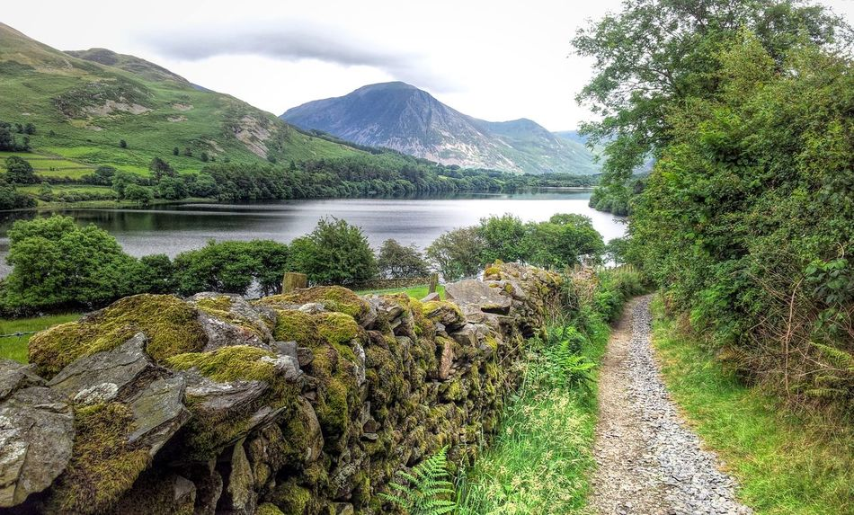Pathway around Crummock Countryside Crummock Water Diminishing Perspective Idyllic Lake Landscape Mountain Mountain Range Pathway Tranquil Scene Tranquility Water