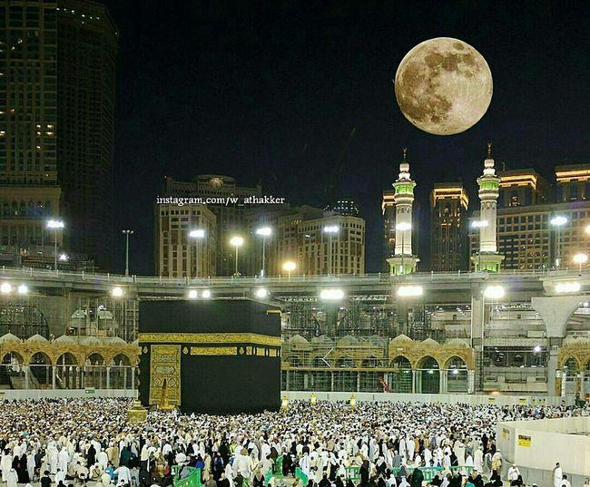 Supermoon2016 Mekkah Ka'aba AllahuAkbar ❤❤