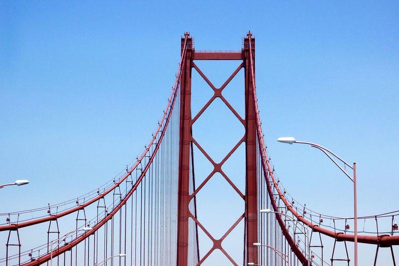 April 25th bridge against clear sky