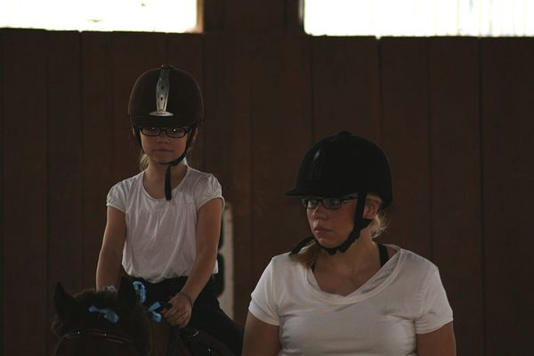 Two People Adult Indoors  People Young Adult Standing Young Women Helmets Mother & Daughter Indoors  Mammal Sitting Domestic Animals Horse Child Togetherness Horseback Riding