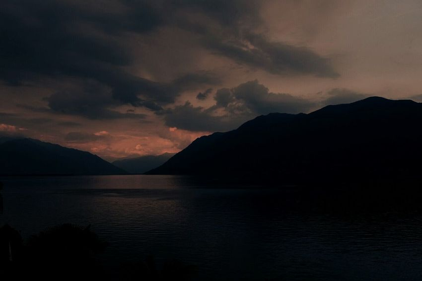 Lakeview over Lago Maggiore at sunset Landscape Mountain Scenics Lake Dramatic Sky Nature Outdoors Beauty In Nature Lakeview Lago Maggiore Lago Maggiore, Italy Water Waterfront_challenge Travel Destinations Italy🇮🇹 Lost In The Landscape Perspectives On Nature HUAWEI Photo Award: After Dark