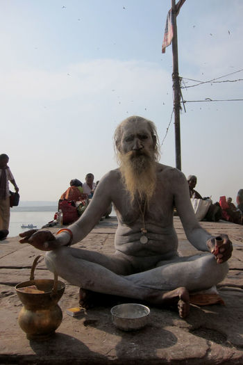 Saddhu, Varanasi, India Ascetic Hindu Culture Holy Man Mendicant Saddhu Varanasi Varanasi, India Ganges, Indian Lifestyle And Culture, Bathing In The Ganges, Yogi