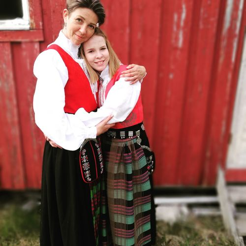 Smiling Looking At Camera Portrait Young Adult Beauty Daugther And Mommy Confirmation Day Bunad Nordmøre Nordmørsbunad Norway🇳🇴 Proud Mommy