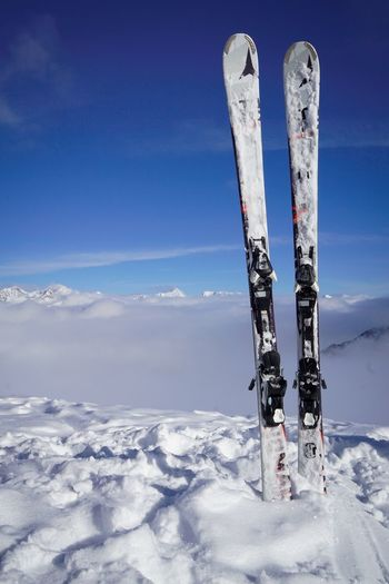 Above the clouds... Above The Clouds Blue Sky Cloud - Sky Austria Soelden Alpen Cold Skiing Snow Cold Temperature Winter Day Nature Outdoors Sky No People