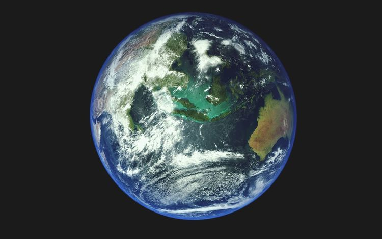 Earth From Space Planet Earth Blue Planet View From Space Globe Satellite Science Ocean Clouds Atmosphere Continents Beatiful Planet Detail