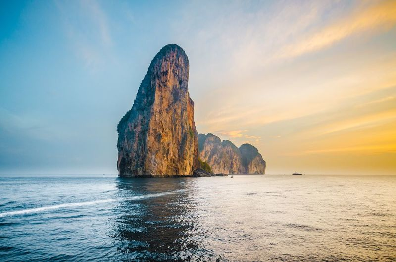 Thailand Sky Beauty In Nature Scenics - Nature Land Horizon Over Water Rock Formation Rock Nature Beach Tranquil Scene