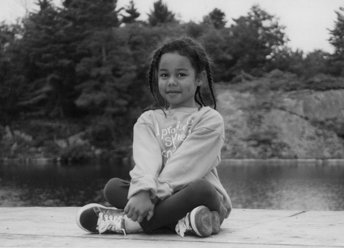 A model to be! Confidence Is Everything Confidence Is Beauty!! Front View Looking At Camera One Person Outdoors Portrait Sitting Young Adult