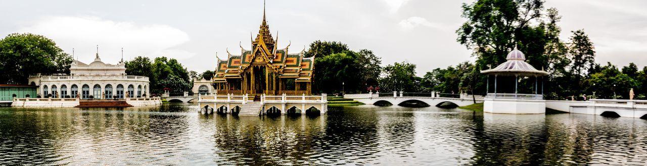 Bang Pa-in Palace, Uyatthaya, Thailand Bang Pa In Summer Palace Bang Pa-in Palace Panorama Siam Thai Thailand Uyatthaya