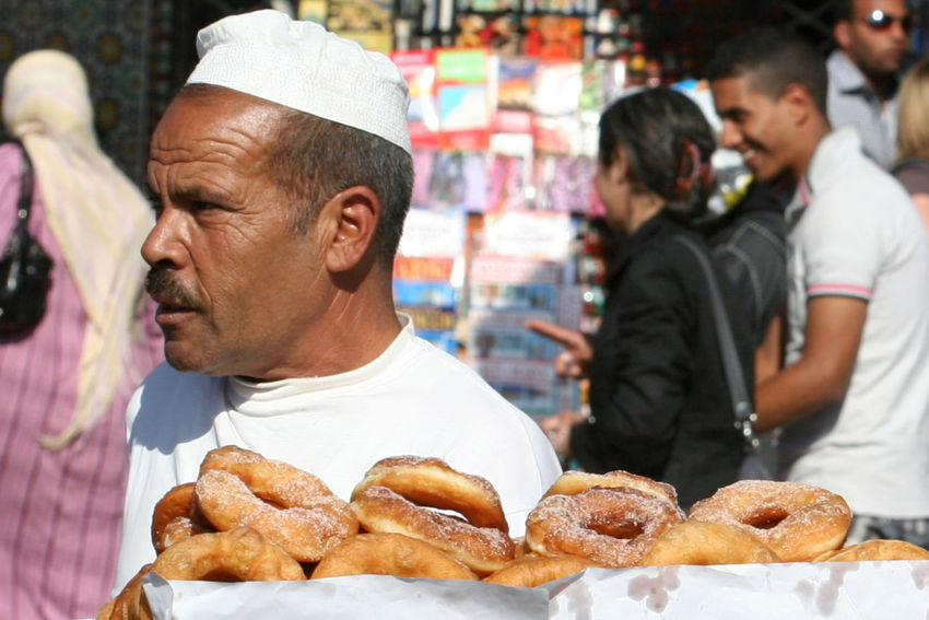2011 Adult Close-up Day Food Human Body Part Jamaa El Fna Marrakesh Morocco Portrait Ready-to-eat Real People Selling On The Street Selling Sweets White Cap