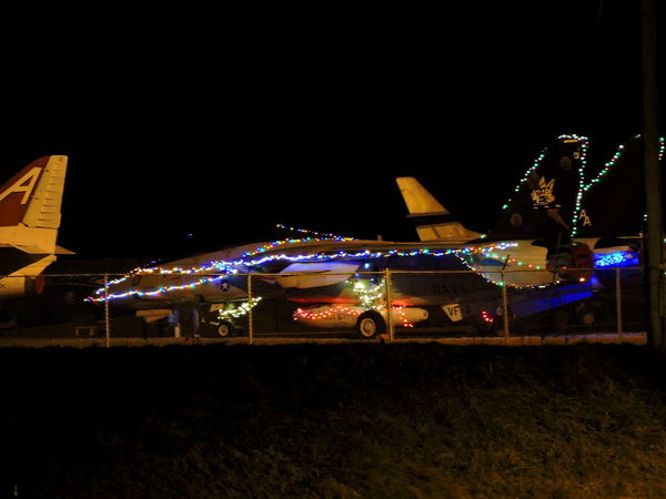 Leftover Christmas Decorations :D:D Christmas Lights!  Airforce Base Airplanes Airportphotography Illuminated Night No People Outdoors
