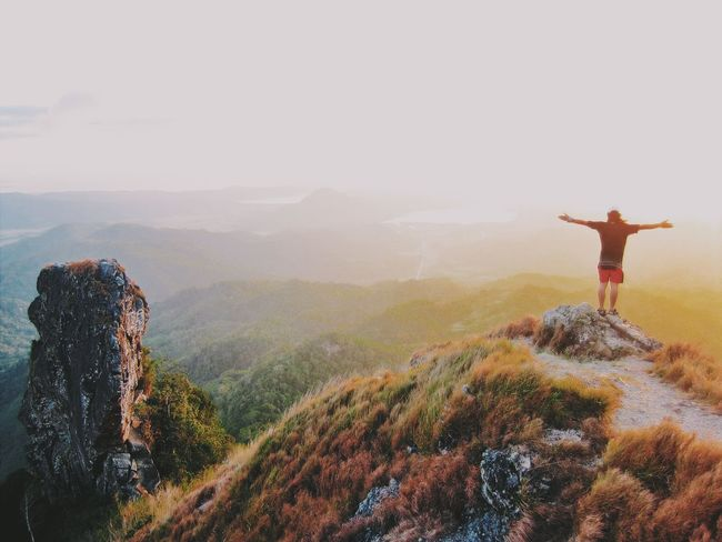 Sunset at the top of the mountain. Hobbyphotography Travel Destinations Traveling Home for the Holidays Trekking #travelling #sightseeing Trekking Sunset_collection Sunset Silhouettes Travelphotography Mountain Climbing Outdoor Photography The EyeEm Facebook Cover Challenge
