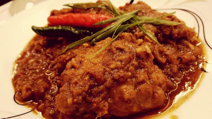 The Indian Food Chiken Masala it taste good with Rice :) Indoors  SpiceN'Wok Indianfood Chickenmasala
