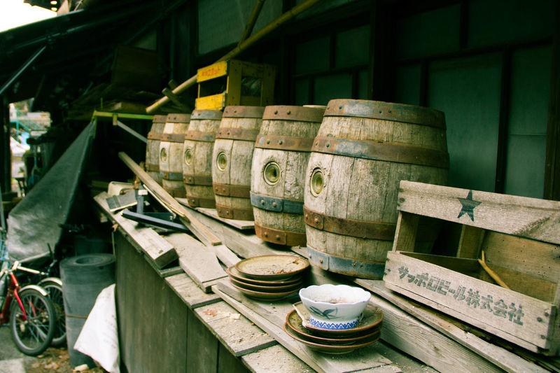 Barrel Stack Wood - Material