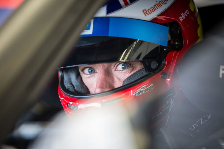 British Gt Close-up Colour Day Helmet Looking At Camera Martin Plowman Men One Person Racing Silverstone Ultratek Racing