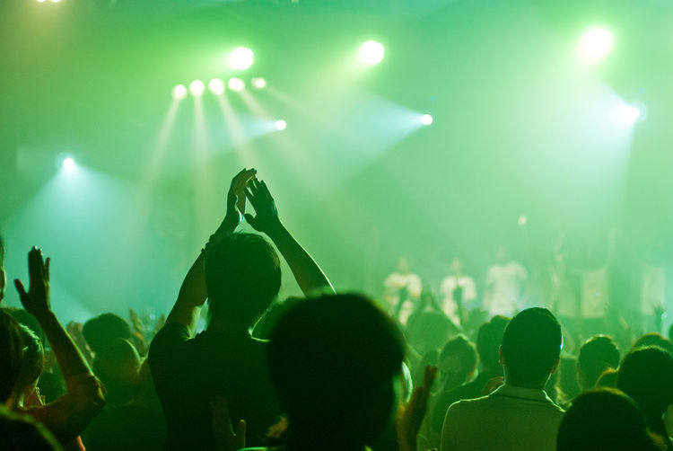 People in music concert