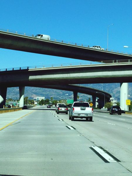 such a socal view before 2:30Taking Photos Stuff I See Freeway Overpass On The Road Eyemphotography There Be Dragons Blue Sky Open Highways No Traffic Showcase: February Looking For Inspiration Eyeemphotography Eyem Gallery Something Different
