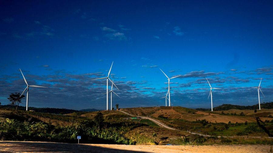 Tung Kang Han Rom : Thailand Alternative Energy Electricity  Wind Turbine Wind Power Environmental Conservation Renewable Energy