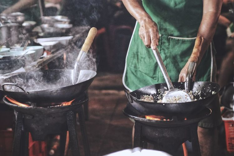 food stories Cooking Food Collection Holding Body Part Joint - Body Part Human Hand Chef Stove Flame Heat - Temperature Preparation  Steam Smoking - Activity Smoke - Physical Structure Stir-fried Fire Pit Fried Rice Fire - Natural Phenomenon Chinese Takeout Firewood Frying Pan