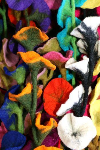 Textile Art Felting Wool Colorfulart Woolfelting Bright Colors Brightlycoloredart Multi Colored Backgrounds Close-up Colorful ArtWork Handmade