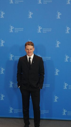 Berlin, Germany - February 17, 2018: English actor Edwin Thomas poses at the 'The Happy Prince' photo call during the 68th Berlinale Film Festival 2018 Artist Fame Famous Film Festival Interview Photocall Press The Media Arts Culture And Entertainment Berlinale Berlinale 2018 Berlinale2018 Entertainment Entertainment Event Film Industry Front View Gala Mass Media Popular Posing Press Conference Red Carpet Red Carpet Event