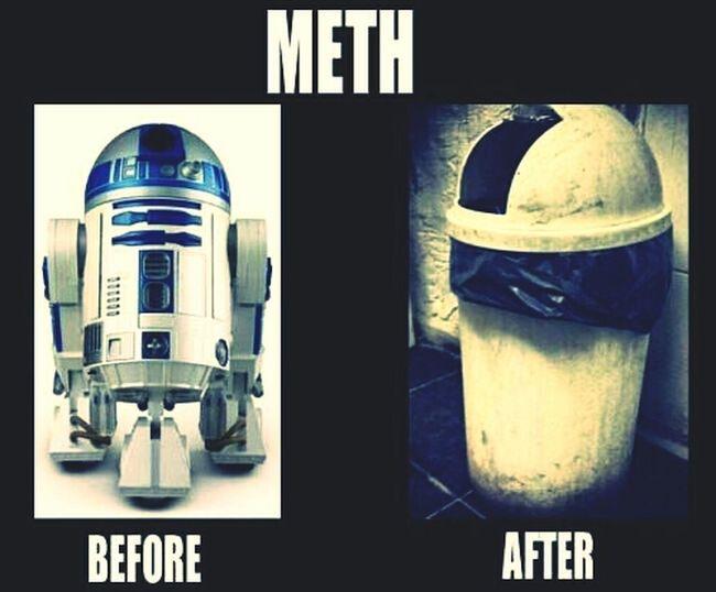 meth not once