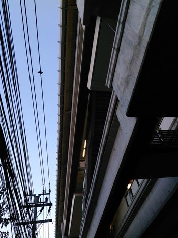 Bangkok City Built Structure BTS Electric Wire Thailand Low Angle View Abstract The Street Photographer - 2016 EyeEm Awards