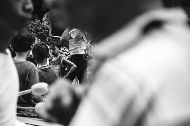At the crowd. Bnw_greatshots Bnw_of_our_world Bnwphilippines Bnwphotography Bnwmood Bnw Bnwportrait Street Streetsofmanila Streetphotography Luneta Wheninmanila Igersmanila Manila Philippines Igersbnw Igers #Child #streetchildren Visual Creativity Focus On The Story The Street Photographer - 2018 EyeEm Awards The Portraitist - 2018 EyeEm Awards The Traveler - 2018 EyeEm Awards The Photojournalist - 2018 EyeEm Awards