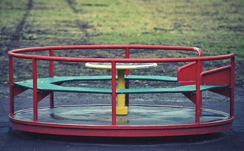 Empty bench in playground
