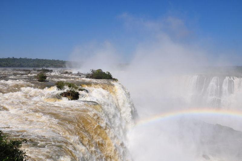 Scenic view of iguacu falls