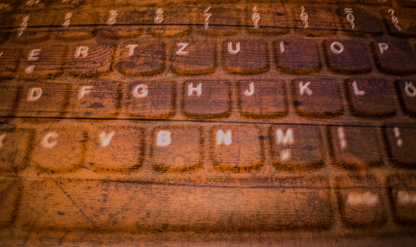 Tastatur Keyboard Tastem Experimental Alphabet Close-up Experimental Photography No People Textured  Wood - Material