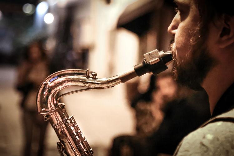Jazz will save us all Music Performance Musician Musical Instrument Performing Arts Event Skill  Jazz Music Saxophone Close-up Jazz Jazz Concert The Street Photographer - 2017 EyeEm Awards night Nightlife Streetphotography