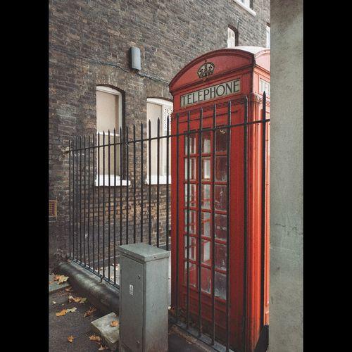 Red door of building