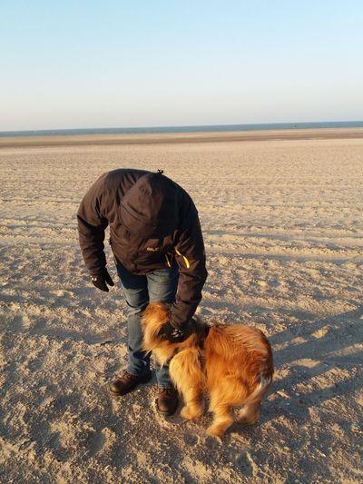 husband and dog