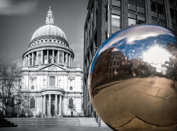 Past&Future Architecture City City Cityscape Dome England London Selective Color Selective Colour St.Paul's Cathedral Tourism Travel Destinations Urban