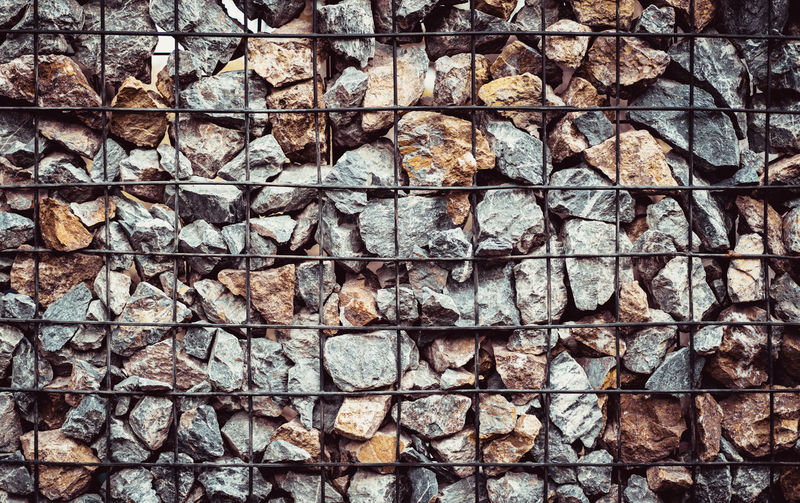 full frame of gray granite rock with black steel line for background Backdrop Background Black Brown Cream Fence Frame Full Grain Granite Gray Grunge LINE Material Outdoor Rock Rough Steel Surface Texture Wall